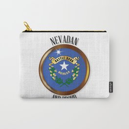Nevada Proud Flag Button Carry-All Pouch