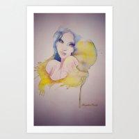 Art Print featuring Waves by Alejandra Ramos
