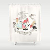 backpack Shower Curtains featuring Pretty Miniunilamacorn by Thoka Maer
