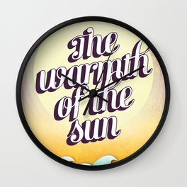 The Warmth of the Sun Wall Clock