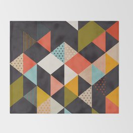geometry mid century Throw Blanket