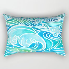 Waves Rectangular Pillow