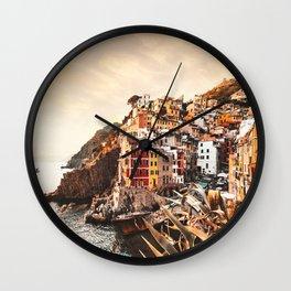 riomaggiore at cinque terre Wall Clock