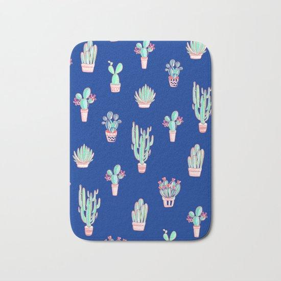 Little cactus pattern - Princess Blue by domvariwords