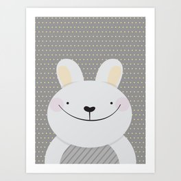 Cute Rabbit Art Print