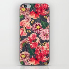 Vintage Flowers and Bees iPhone Skin