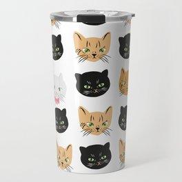 good kitty-bad kitty pattern Travel Mug