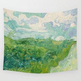 Green Wheat Fields, Auvers, 1890, Vincent van Gogh Wandbehang