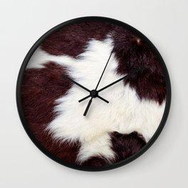 Cowhide Fur Wall Clock