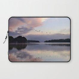 Uplifting II: Geese Rise at Dawn on Lake George Laptop Sleeve