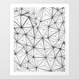 Organic Web Four Art Print