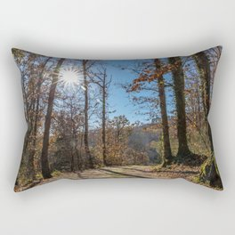 A beautiful day in the woods Rectangular Pillow