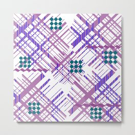 Grid design Metal Print