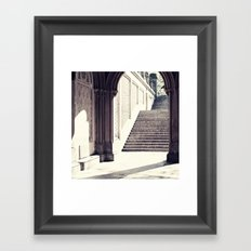 New York, NYC, Central Park arches on black and white II Framed Art Print