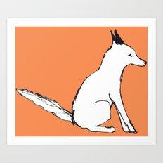 A Fox in The Park Art Print