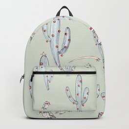 Christmas Owl and Cactus Backpack
