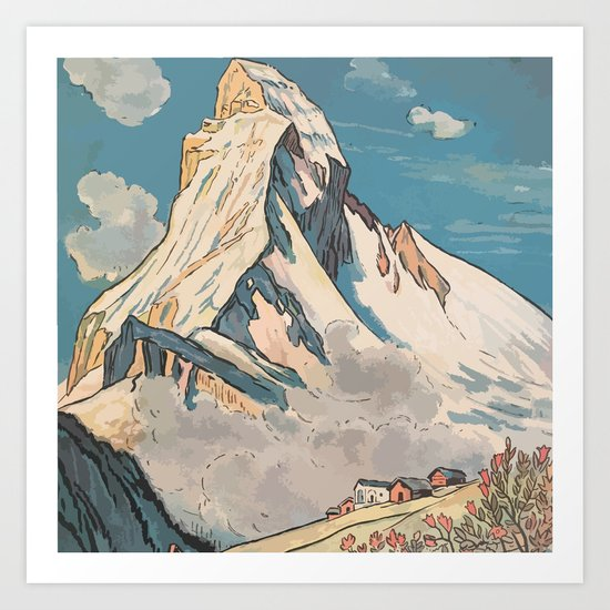 Night Mountains No. 45 Art Print