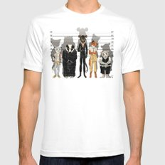 Unusual Suspects Mens Fitted Tee White MEDIUM