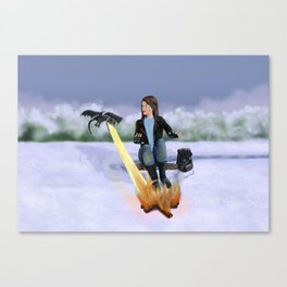 Winter Campfire Canvas Print
