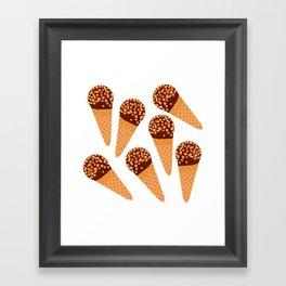 Ice Cream Drumstick Framed Art Print