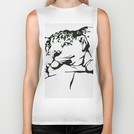 Leopard In(tro)spection Biker Tank