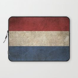 Old and Worn Distressed Vintage Flag of The Netherlands Laptop Sleeve
