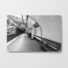 Inside Concorde Metro Metal Print