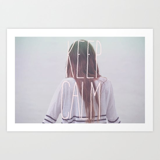 Wander (Keep Calm) Art Print
