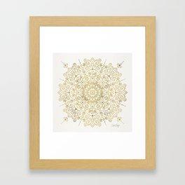 Moroccan Mandala – Gold Palette Framed Art Print
