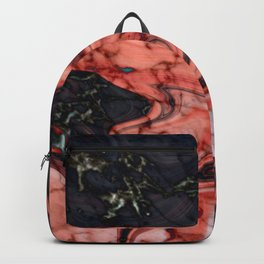 black marble stone texture Backpack
