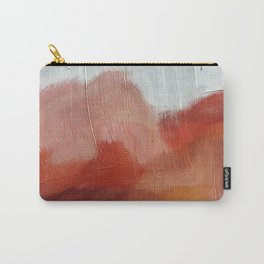 Desert Journey [2]: a textured, abstract piece in pinks, reds, and white by Alyssa Hamilton Art Carry-All Pouch