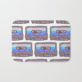 Cassette Pattern *Dark Blue Bath Mat