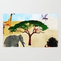 safari Area & Throw Rugs featuring Safari by Design4u Studio