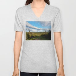 Big Skies over Mountain Trail Unisex V-Neck
