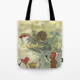 Hard to say goodbye. Tote Bag