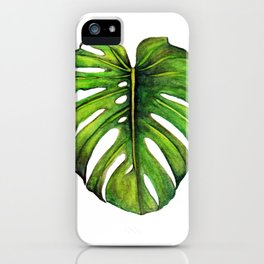 Monstera deliciosa iPhone Case