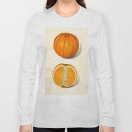 Vintage Sliced Orange Illustration Long Sleeve T-shirt