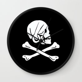 Pirate Flag Skull and Crossbones Jolly Roger Wall Clock