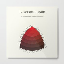 Le Rouge-Orangé (ses diverses nuances combinées avec le noir) Remake (Interpretation) Metal Print