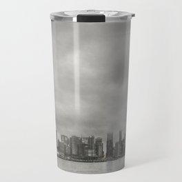 Vancouver Raincity Series - Raincity i - Moody Downtown Vancouver Cityscape Travel Mug