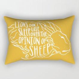 Lions don't lose sleep Rectangular Pillow