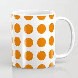 Trendy orange and white polka dots pattern Coffee Mug