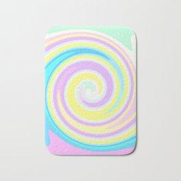 Bright abstract spiral Bath Mat