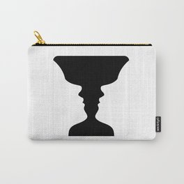 Two faces side by side- illusion of a vase also called Rubins vase Carry-All Pouch
