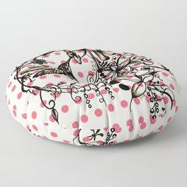 Abstract Painting HUMMINGBIRD IV Floor Pillow