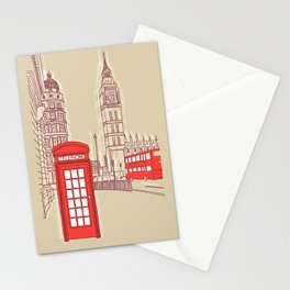 City Life // London Red Telephone Box Stationery Cards