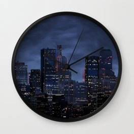 Night city panorama Wall Clock