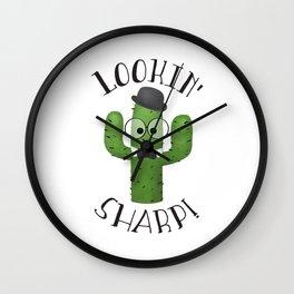 Lookin' Sharp! Wall Clock