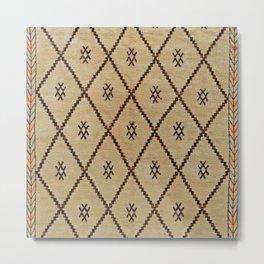 Traditional Moroccan Carpet Design Metal Print