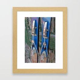 Ski Bindings Framed Art Print
